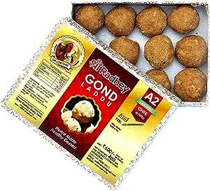 Shree Radhey Gir Cow ghee Home Made Gond Laddu, 400 g