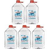 25 liter gedestilleerd water (5 jerrycans van elk 5 liter).