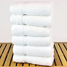 Milap White Hand Towels Set of 6
