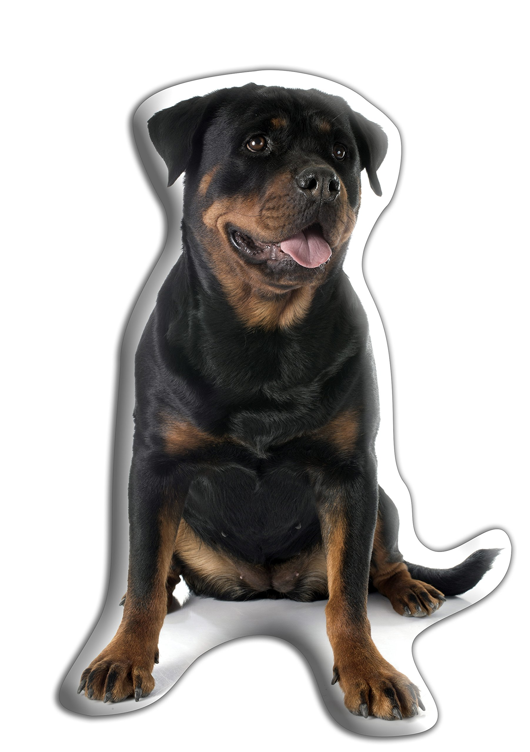 Rottweiler Dog Gift – Beautiful Large Cuddle Cushion – Luxurious strokable shaped cushions, approximate size: H460mm x W400mm (18″ x 16″)