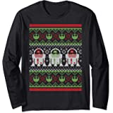 Star Wars R2-D2 Ugly Christmas Sweater Rebel Manche Longue