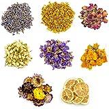 Dreamtop - Kit de Flores secas con Flores Naturales rodaja de limón Fresa osmanto jazmín nomeolvides caléndula Lavanda para D