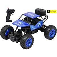 Zest 4 Toyz 4 Wheel Drive 1:18 RC Rock Crawler Off Roader Monster Truck with 2.4GHz Remote Control Rechargeable Toy for Kids - Blue