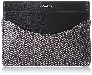 Skagen Denmark Skagen Card Case, Portefeuilles homme, Grau (Pewter), 0.2x7.2x10 cm (B x H T)