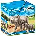 Playmobil Rinoceronte con Cucciolo Figurine - 70357, Multicolore