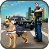 Police Dog n Police Car Rush Chase Crime City Gangsters Attack: Cops Robbers Gangster Fighting Survival Mission Action Adventure Simulator 3D Game 2018