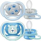 Philips Avent Ultra Air Napp - En lätt napp som andas - Ortodontisk och BPA-fri - Lämplig för ålder 6-18 mån - 2-pack - SCF08