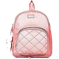 Kausbabi® Girls PU Leather Backpack/School/College/Tution/Coaching Backpack (Baby Pink, PG-0032)