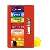 COM-FOUR® 1x medicatie dispenser in het NEDERLANDS - medicatiebox voor 7 dagen - elk 3 compartimenten - pillendoosje - pillen