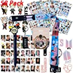 BTS Bangtan Boys Gift Set for ARMY - 12 Sheet of BTS Stickers, 40 Pack BTS Photo Card, 2 Pack 3D Stickers, 1 Pack BTS...