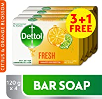 Dettol Fresh Anti-bacterial Bar Soap 120g 3+1 Free