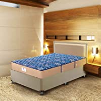Peps Springkoil Bonnell 6-inch Single Size Spring Mattress (Dark Blue, 72x48x06) with Free Pillow