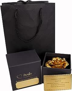 Golden Rose rosenbox Flower Floral Box Wish Engraving Mothers Day Ladies Gift