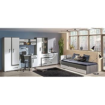 newjoy kinder jugendzimmer komplett bett schreibtisch 2 schr nken neu k che haushalt. Black Bedroom Furniture Sets. Home Design Ideas
