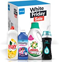 Bundle Offer: Ariel Washing Detergent 2L, Fairy Dishwashing 1L, Downy Fabric Softener 1L, Downy Unstopables Scent...
