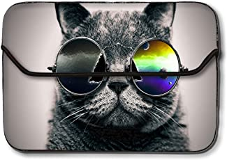 Theskinmantra 13-13.3 Inch Cat Cool Laptop Sleeve Case Bag for Apple MacBook/Macbook Air/MAcbook Pro/Surface Book/Notebook Computer