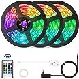 15 Meter RGB LED Streifen (3x5m),OxyLED LED Strips RGB Farbwechsel 450 LED Ferngesteuert Sync zur Musik Flexible LED Streifen
