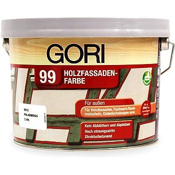 2 5l gori 99 polarwei 8855 holzfassaden farbe. Black Bedroom Furniture Sets. Home Design Ideas
