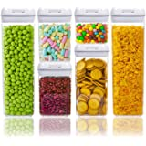 Lufttät matförvaringsbehållare med lock gjorda av slitstarkt BPA-fritt material idealiskt för spannmål, spaghetti, pasta, god