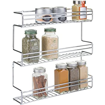mDesign portaspezie da cucina da montare alla parete o ai mobili ...