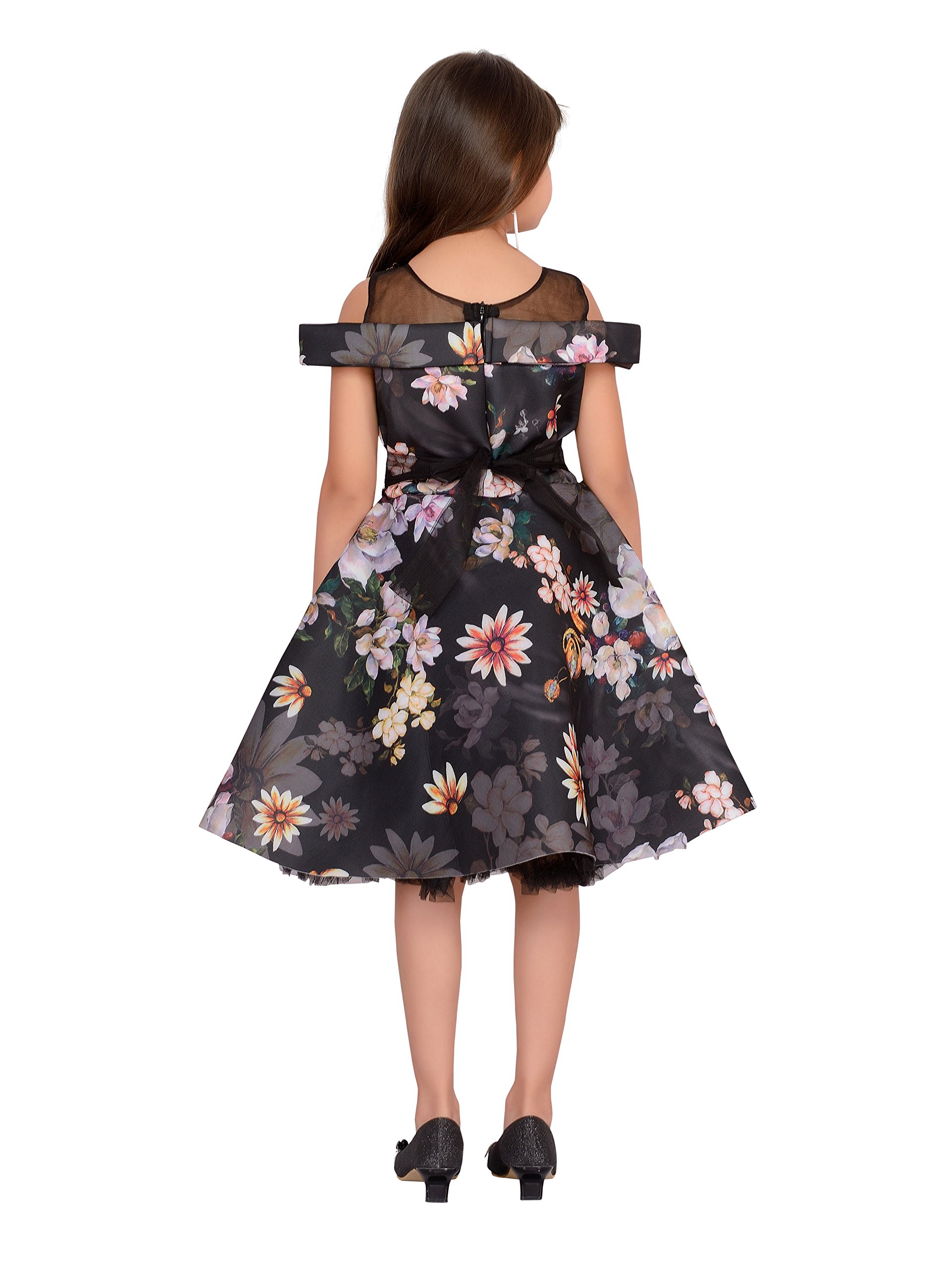 1828aacd47a1 Adiva Girl s Party Wear Frock for Kids (G 4034 Black 26) - lali mix ...