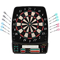Physionics® Elektronische Dartscheibe - viele Spiele, mehr als 100 Spielvarianten, 12 Dartpfeile, 100 Ersatzspitzen…