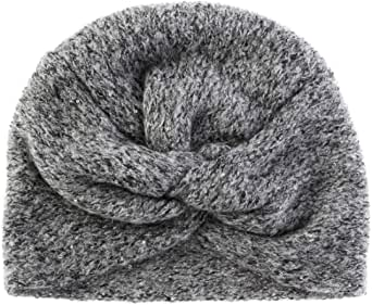 FANTASIE TERRENE Turbante fatto a maglia in Lana Mohair con Paillette, Donna, Rosa