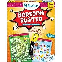 Skillmatics Educational Game: Boredom Buster (3-6 Years) | Creative Fun Activities for Kids | Erasable and Reusable Mats