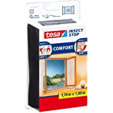 tesa TE55915-00021-00 Malla Comfort para ventanas 1,7 m x 1,8 m negra, standaard
