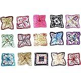 MESHIKAIER 5 Pack Donna Piccolo Sciarpa Quadrato Raso Fazzoletto da Collo Mini Foulard 50x50cm