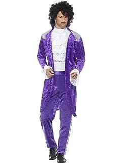 Prince Costume Mens 80/'s 1980s Purple Rain Adult Fancy Dress Outfit M-XL