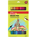 Camlin Kokuyo Brush Pens, 24 Shades (Multicolor)