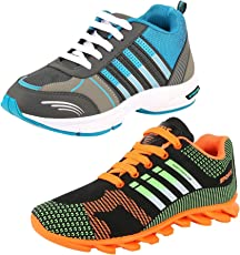 Chevit Men's Combo Pack of 2 Running Shoes