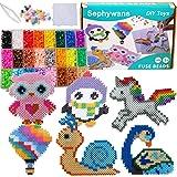 Perles à repasser Sephywans, 4800 Pcs 5mm 24 Couleurs Ensemble de perles de fer pour la fabrication d'artisanat pour enfants,