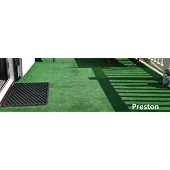 "Preston 6mm Pile Height Artificial Grass13ft 1/"" 4 Metres wide choose your own"