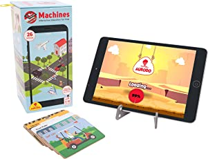 Aurodo Machines - Kids Learning Kit with 26 Augmented Reality Vehicles, Educational Games and Learning Toys