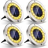 Lampe Spots Solaire Extérieur Jardin, 4Pack VIRIDI 16 LED Lumière Solar Projecteur Éclairage Exterieur IP65 Etanche Sans Fil
