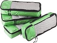 AmazonBasics Schmale Kleidertaschen, 4 Stück, Grün