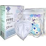FFP2 Maschera protettiva - Scatola da 10 pezzi - Certificato CE, con elastici e clip per naso adattabile | 5 spessori di filt