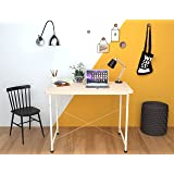 CATIVE Multipurpose Study Table, Writing Table, Computer Desk, Office Table, Workstation Table, Laptop Table (White)