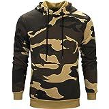 MANLUODANNI Men's Pullover Fleece Sweatshirt Camouflage Hoodies