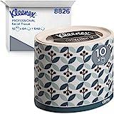 Kleenex 8826 Boîtes de mouchoirs ovales, 10 paquets de 64 formats, 3 épaisseurs, Doux et résistant, Sans parfum, Couleur : Bl
