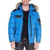 Cipo & Baxx Chaqueta acolchada de invierno para hombre con capucha, parka, abrigo, chaqueta de invierno