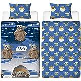 Baby Yoda Single Duvet Cover   Star Wars Mandalorian Night Duvet   Officially Licensed Microfibre Reversible Two Sided Design