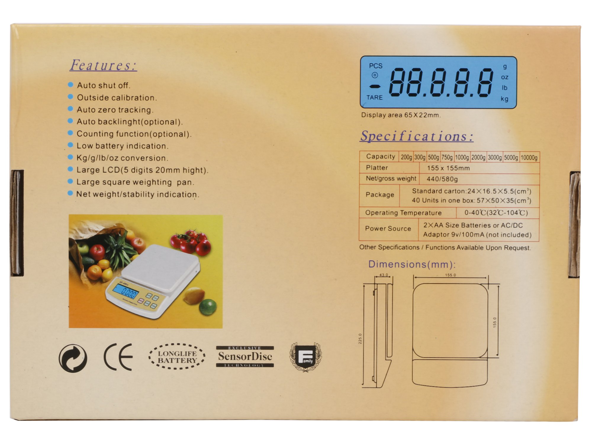 Atom Sf 400a Multipurpose Digital Kitchen Weighing Scale With Max Auto Off Power Source Sale