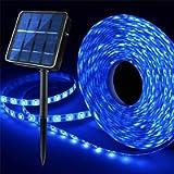 Outdoor Solar LED Strip Lights Blue, Solar Powered Flexible Waterproof Rope Lights, 8 Modes 180 LED Lights Strip for…
