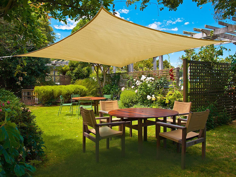 Sunnylaxx Wasserdicht Sonnensegel Sonnenschutz Garten – Rechteck, UV-Schutz  wetterbeständig Segel   preisluchs.com