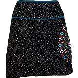 GURU-SHOP, Mini Falda, Falda de Verano, Falda Hippie, Falda Goa, Algodón, Faldas Cortas