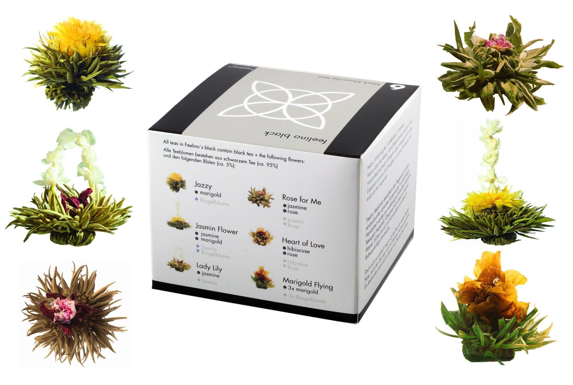 Feelino-Edle-6er-Mischbox-Schwarztee-Teeblumen-black-in-toller-Probier-und-Geschenkbox-mit-6-verschiedenen-Teerosen-1er-Pack