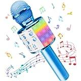 Microfono Karaoke, Wireless Bluetooth LED Flash Microfono con Altoparlante, Portatile Karaoke Player Compatibile con…